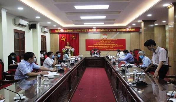 Ủy ban MTTQ Việt Nam huyện Thạch Thất phản biện vào dự thảo báo cáo chính trị Đại hội Đảng bộ huyện lần thứ XXIV, nhiệm kỳ 2020-2025
