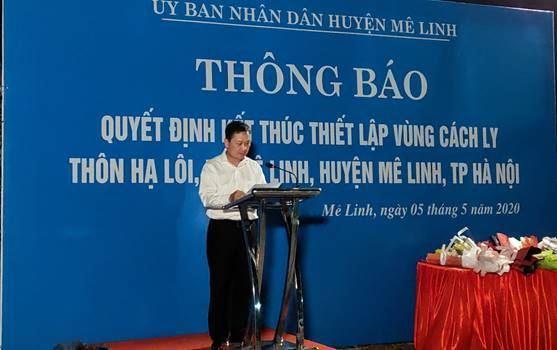 Huyện Mê Linh kết thúc cách ly y tế tại thôn Hạ Lôi