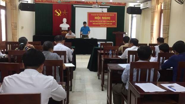 Ủy ban MTTQ Việt Nam huyện Thanh Oai tổ chức hội nghị giao ban công tác Mặt trận 4 tháng đầu năm 2020