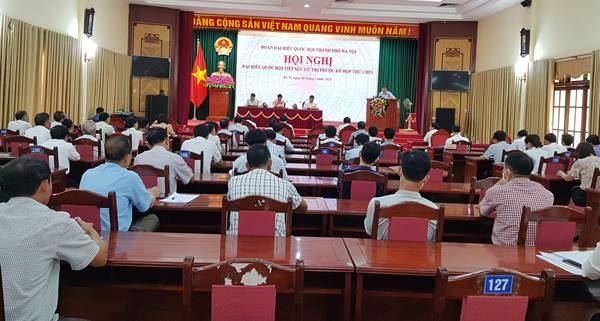 Đoàn đại biểu Quốc hội Thành phố Hà Nội khóa XIV tiếp xúc cử tri trước kỳ họp thứ 9 tại huyện Ba Vì