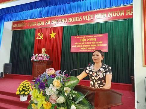Ủy ban MTTQ Việt Nam huyện Đan Phượng góp ý vào dự thảo văn kiện Đại hội đại biểu Đảng hộ huyện lần thứ XXIV