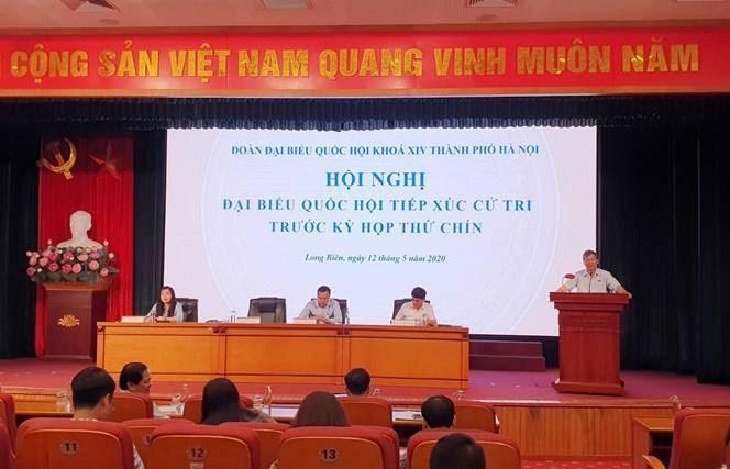 Đại biểu Quốc hội thành phố Hà Nội tiếp xúc cử tri quận Long Biên trước kỳ họp thứ 9, Quốc hội khoá XIV