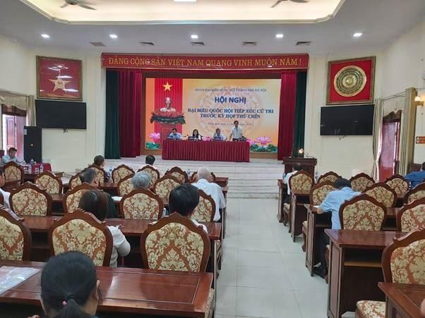 Đoàn đại biểu Quốc hội khóa XIV TP Hà Nội tiếp xúc với cử tri huyện Đông Anh trước kỳ họp thứ 9