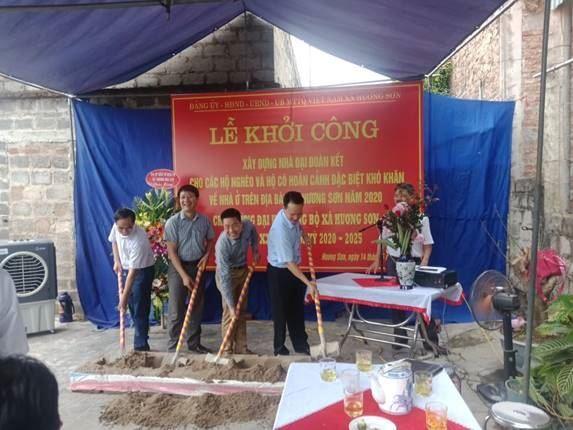 Xã Hương Sơn, huyện Mỹ Đức khởi công xây dựng 6 nhà Đại đoàn kết