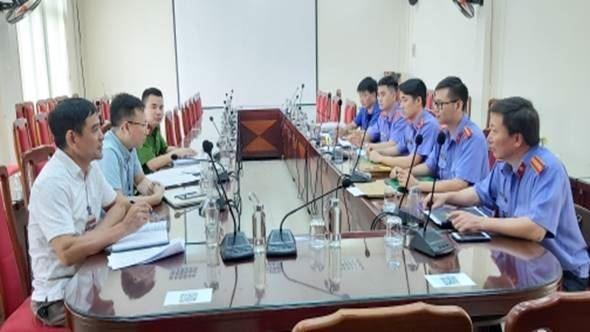 Ủy ban MTTQ Việt Nam quận Long Biên phối hợp kiểm sát việc thi hành án hình sự tại UBND phường năm 2020
