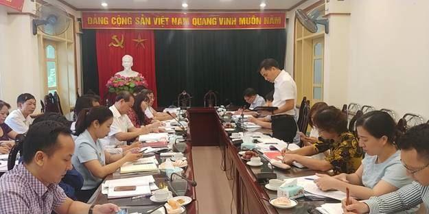 Ủy ban MTTQ Việt Nam quận Thanh Xuân tiếp Đoàn kiểm tra về việc giám sát thực hiện chính sách hỗ trợ người dân gặp khó khăn do đại dịch Covid-19