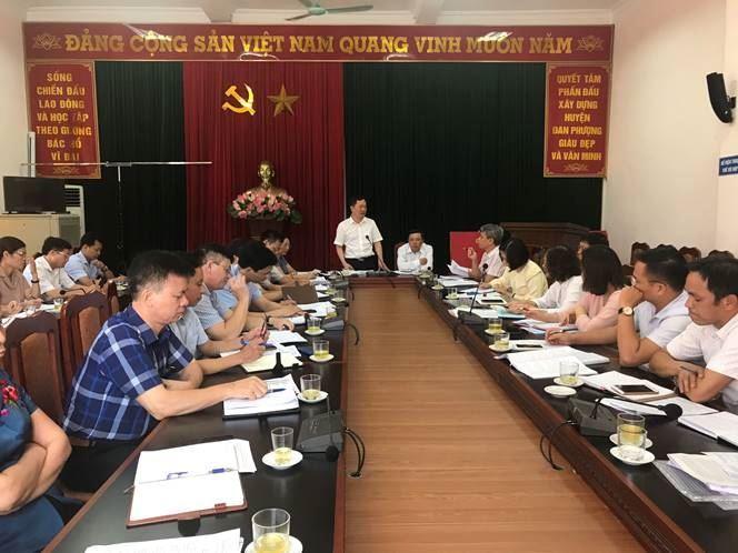 Ủy ban MTTQ Việt Nam thành phố kiểm tra việc giám sát thực hiện chính sách hỗ trợ người dân gặp khó khăn do đại dịch Covid-19 tại huyện Đan Phượng