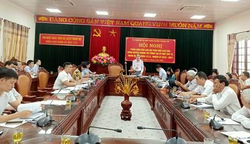 Ủy ban MTTQ Việt Nam huyện Thanh Trì phản biện vào các dự thảo báo cáo của UBND huyện trình tại kỳ họp thứ 15, HĐND huyện khóa XIX