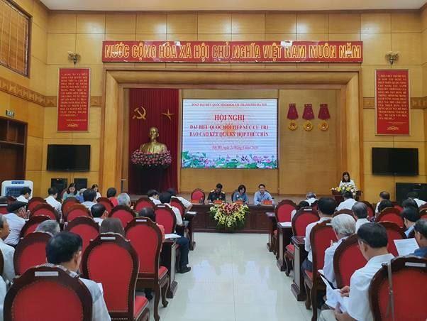 Đoàn đại biểu Quốc hội khóa XIV TP Hà tiếp xúc cử tri các quận Tây Hồ, Ba Đình, Hoàn Kiếm