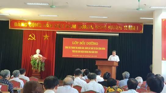 Quận Hoàng Mai khai giảng lớp bồi dưỡng công tác Thanh tra nhân dân, Giám sát đầu tư của cộng đồng năm 2020