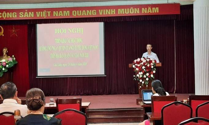"""Quận Cầu Giấy triển khai hoạt động hưởng ứng """"Ngày quyền của người tiêu dùng Việt Nam"""" năm 2020."""