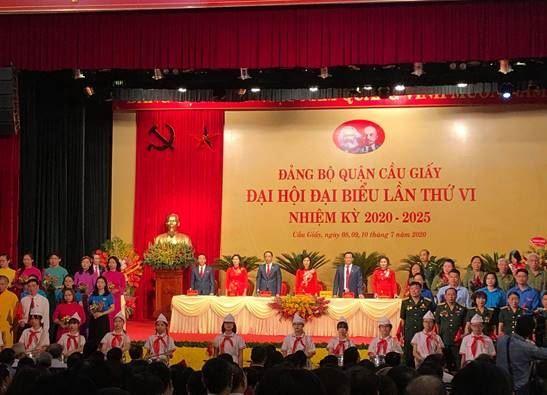 Đại hội Đảng bộ quận cầu Giấy lần thứ VI, nhiệm kỳ 2020-2025 thành công rực rỡ