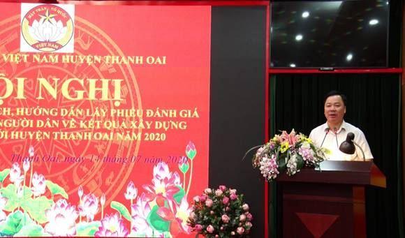 Ủy ban MTTQ Việt Nam huyện Thanh Oai về việc tổ chức lấy ý kiến sự hài lòng của người dân đối với kết quả xây dựng Nông thôn mới huyện năm 2020