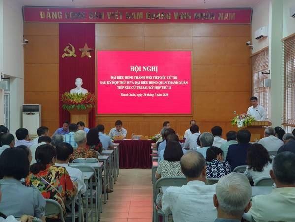 Hội nghị tiếp xúc cử tri của Đại biểu HĐND Thành phố sau kỳ họp thứ 15 và Đại biểu HĐND quận Thanh Xuân sau kỳ họp thứ 11