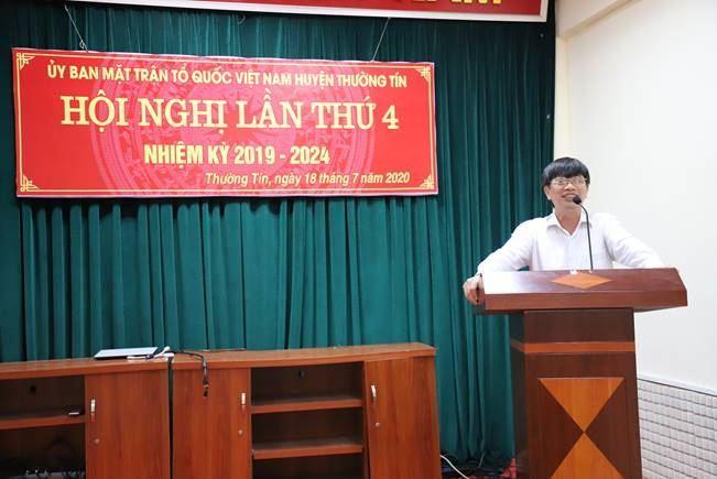 Ủy ban MTTQ Việt Nam huyện Thường Tín sơ kết công tác 6 tháng đầu năm 2020