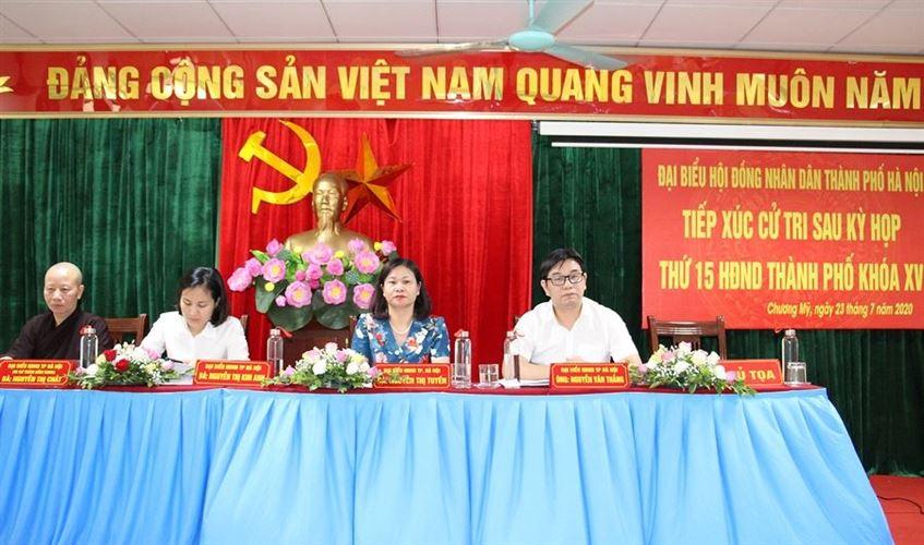 Tiếp xúc cử tri huyện Chương Mỹ báo cáo kết quả kỳ họp thứ 15, HĐND Thành phố Hà Nội khóa XV