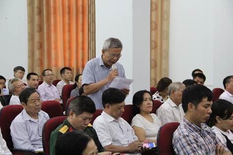 Đại biểu HĐND Thành phố tiếp xúc cử tri quận Bắc Từ Liêm sau kỳ họp thứ 15
