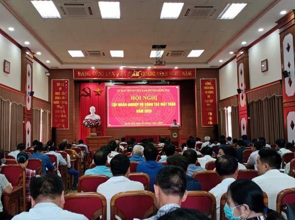 Huyện Quốc Oai tổ chức tập huấn nâng cao nghiệp vụ công tác Mặt trận năm 2020