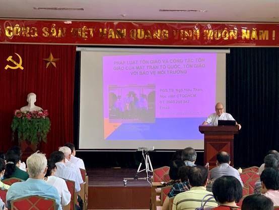 Quận Hoàng Mai khai giảng lớp bồi dưỡng chuyên đề cho cán bộ Mặt trận Tổ quốc