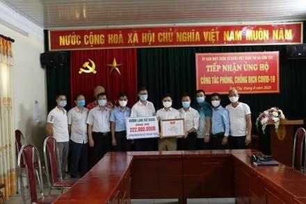 """Vườn lan Xứ Đoài ủng hộ Quỹ phòng chống dịch Covid-19 và Quỹ """"Vì người nghèo"""" thị xã Sơn Tây."""