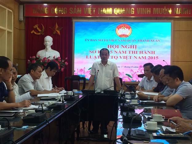 Thanh Xuân sơ kết 5 năm thi hành Luật Mặt trận Tổ quốc Việt Nam