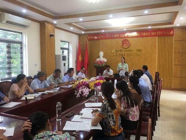 Huyện Phú Xuyên giám sát việc thực hiện Nghị quyết 42 của Chính phủ và việc phân bổ ngân sách cho MTTQ các đoàn thể chính trị của xã, thị trấn năm 2020