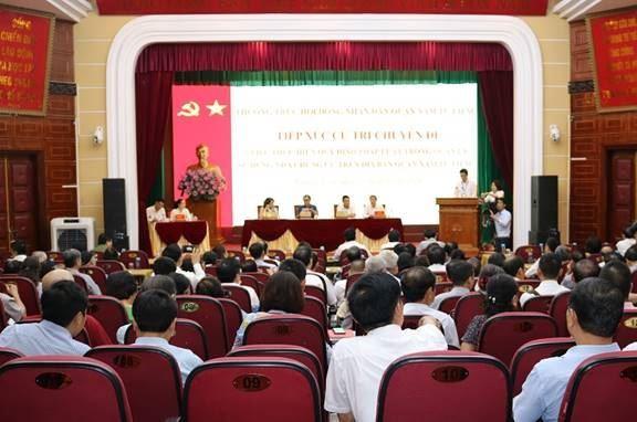 Quận Nam Từ Liêm tổ chức hội nghị tiếp xúc cử tri chuyên đề