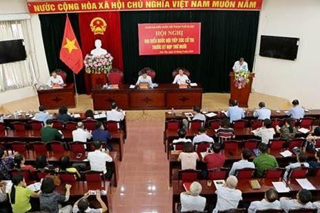 Đại biểu Quốc hội TP Hà Nội tiếp xúc cử tri thị xã Sơn Tây