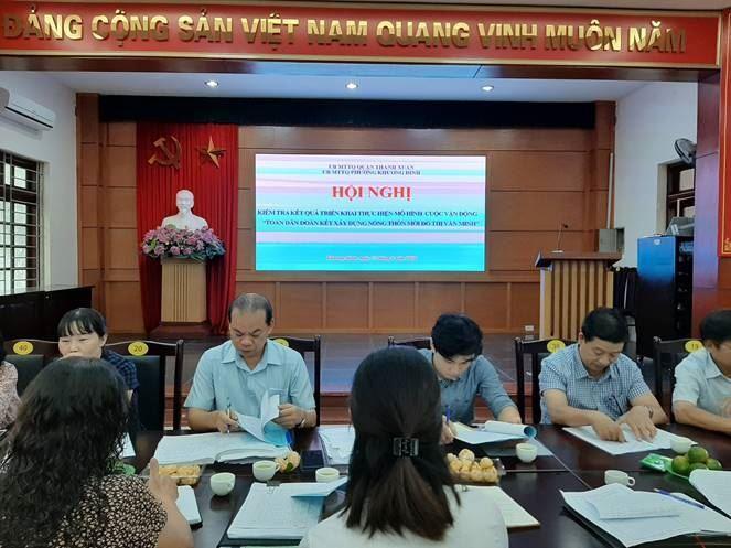 """Quận Thanh Xuân kiểm tra bước đầu kết quả thực hiện các mô hình cuộc vận động """"Toàn dân đoàn kết xây dựng nông thôn mới, đô thị văn minh"""" trên địa bàn quận năm 2020"""
