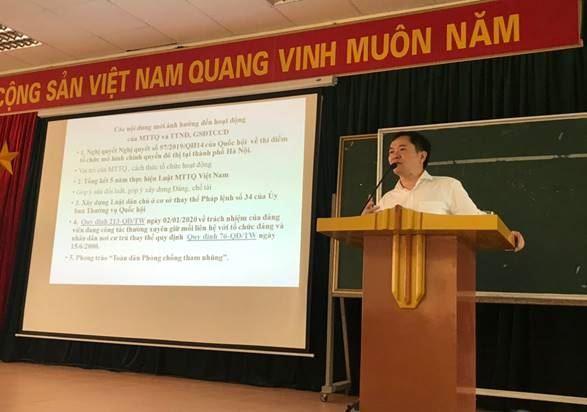 Quận Nam Từ Liêm tổ chức tập huấn nghiệp vụ công tác Mặt trận đợt 1 năm 2020