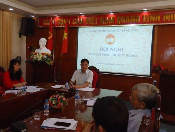 Ủy ban MTTQ Việt Nam huyện Mê Linh giao ban công tác Mặt trận quý III năm 2020.