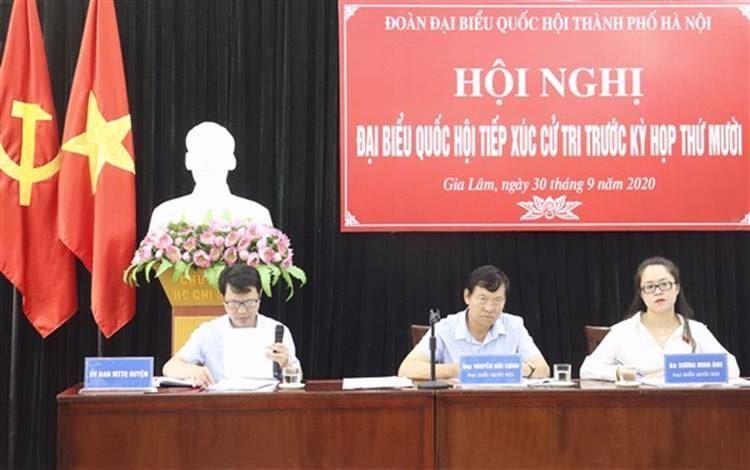Đại biểu Quốc hội khóa XIV Thành phố Hà Nội tiếp xúc cử tri huyện Gia Lâm trước kỳ họp thứ 10
