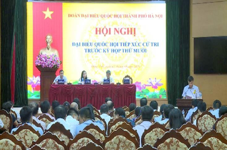 Đoàn đại biểu Quốc hội thành phố Hà Nội tiếp xúc cử tri tại đơn vị bầu cử số 9 trước kỳ họp thứ 10 quốc hội khóa XIV