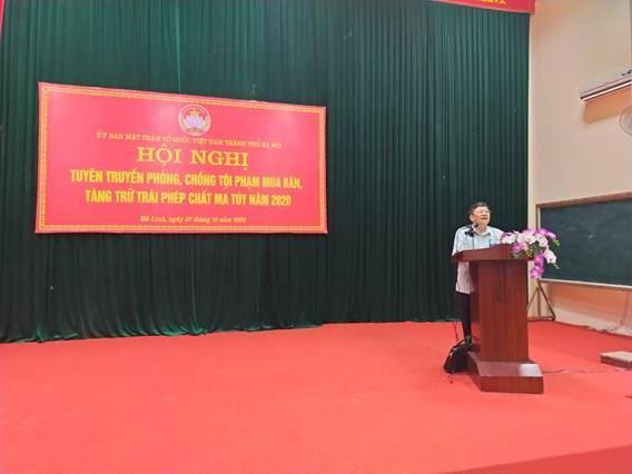 Ủy ban MTTQ Việt Nam huyện Mê Linh phối hợp tổ chức hội nghị tuyên truyền phòng, chống tội phạm mua bán, tàng trữ trái phép chất ma túy năm 2020.