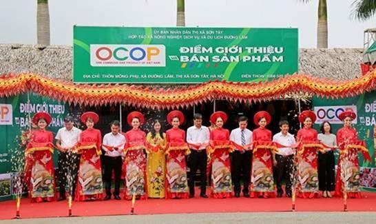 Sơn Tây khai mạc chương trình Tuần hàng Việt và điểm giới thiệu, bán sản phẩm OCOP