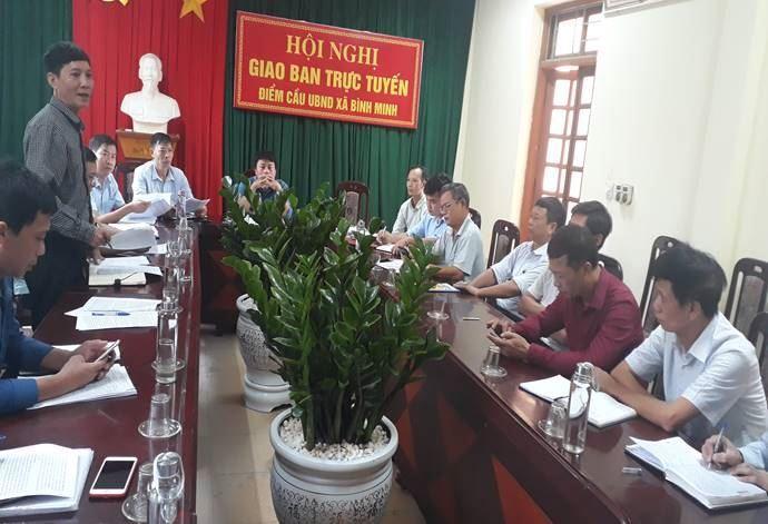 Huyện Thanh Oai kiểm tra công tác Mặt trận 9 tháng đầu năm tại xã Bình Minh