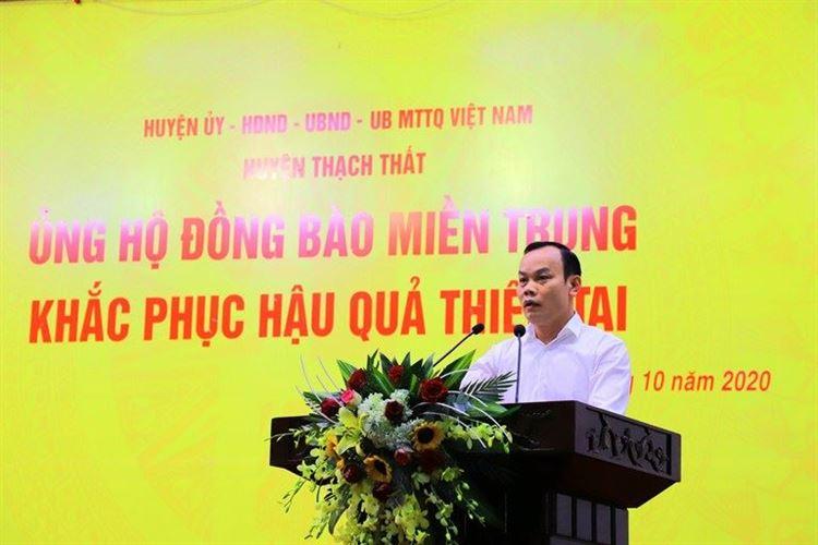 Huyện Thạch Thất phát động ủng hộ đồng bào miền Trung