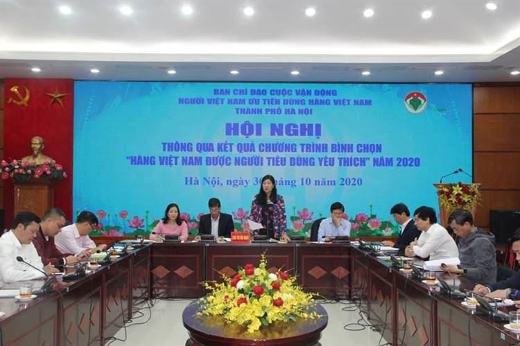 """Thông qua kết quả Chương trình bình chọn  """"Hàng Việt Nam được người tiêu dùng yêu thích"""" năm 2020"""