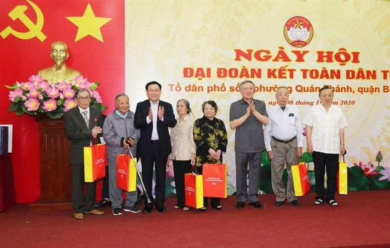 Ngày hội Đại đoàn kết tại Tổ dân phố số 6, phường Quán Thánh