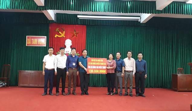 Huyện Thanh Oai chung tay hỗ trợ Miền Trung bị ảnh hưởng do mưa lũ