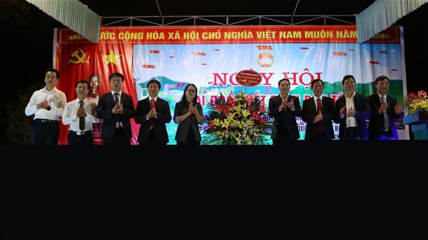 Phó chủ tịch UBND thành phố Hà Nội dự Ngày hội Đại đoàn kết toàn dân tộc Liên khu dân cư xã Hòa Thạch năm 2020