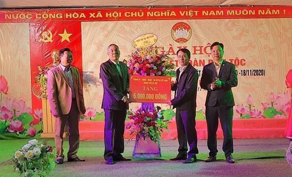 Giám đốc Sở Tài nguyên Môi trường TP Hà Nội dự Ngày hội Đại đoàn kết toàn dân tộc tại thôn Vệ Linh- xã Phù Linh- huyện Sóc Sơn