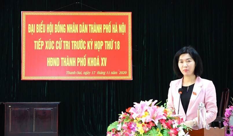 Đại biểu HĐND TP tiếp xúc cử tri huyện Thanh Oai trước kỳ họp thứ 18 HĐND TP khóa XV