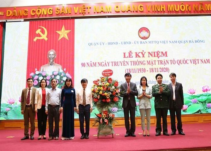 Quận Hà Đông tổ chức Lễ kỷ niệm 90 năm Ngày thành lập Mặt trận Dân tộc thống nhất Việt Nam - Ngày truyền thống MTTQ Việt Nam (18/11/1930-18/11/2020)