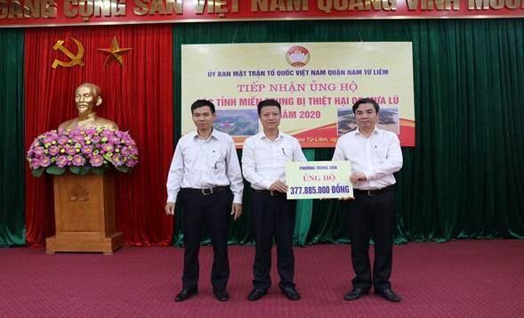 Công tác vận động ủng hộ Nhân dân các tỉnh miền Trung  bị thiệt hại do mưa lũ của Ủy ban MTTQ Việt Nam quận Nam Từ Liêm