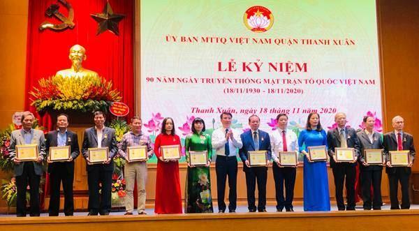 Ủy ban MTTQ Việt Nam quận Thanh Xuân tổ chức Lễ kỷ niệm 90 năm ngày truyền thống MTTQ Việt Nam
