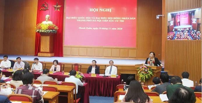 Đại biểu Quốc hội và Đại biểu HĐND thành phố Hà Nội tiếp xúc cử tri quận Thanh Xuân