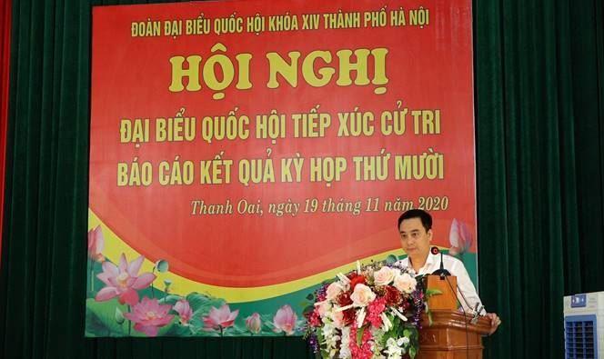 Đoàn Đại biểu Quốc hội khóa XIV Thành phố Hà Nội tiếp xúc cử tri huyện Thanh Oai