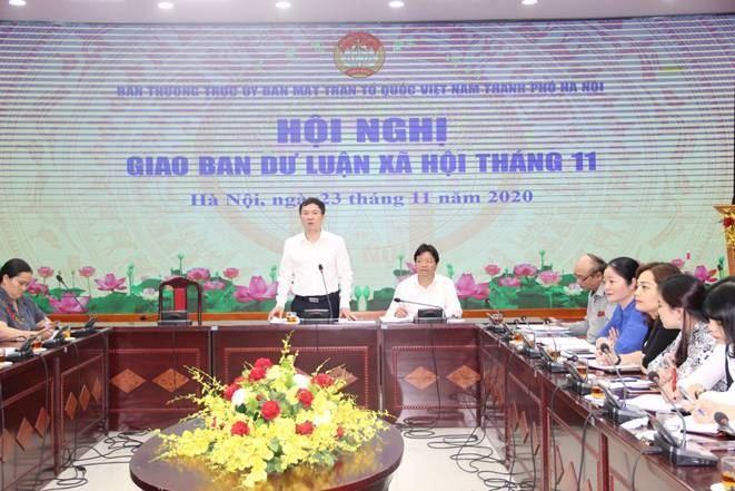 Hội nghị giao ban công tác Dư luận xã hội tháng 11