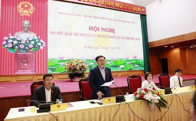Cử tri quận Hà Đông kiến nghị nhiều vấn đề quốc kế dân sinh với Đại biểu Quốc hội TP Hà Nội